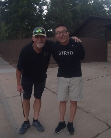 Bobby with Li of Stryd