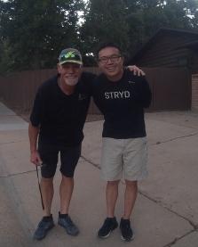 Bobby with Li of Stryd